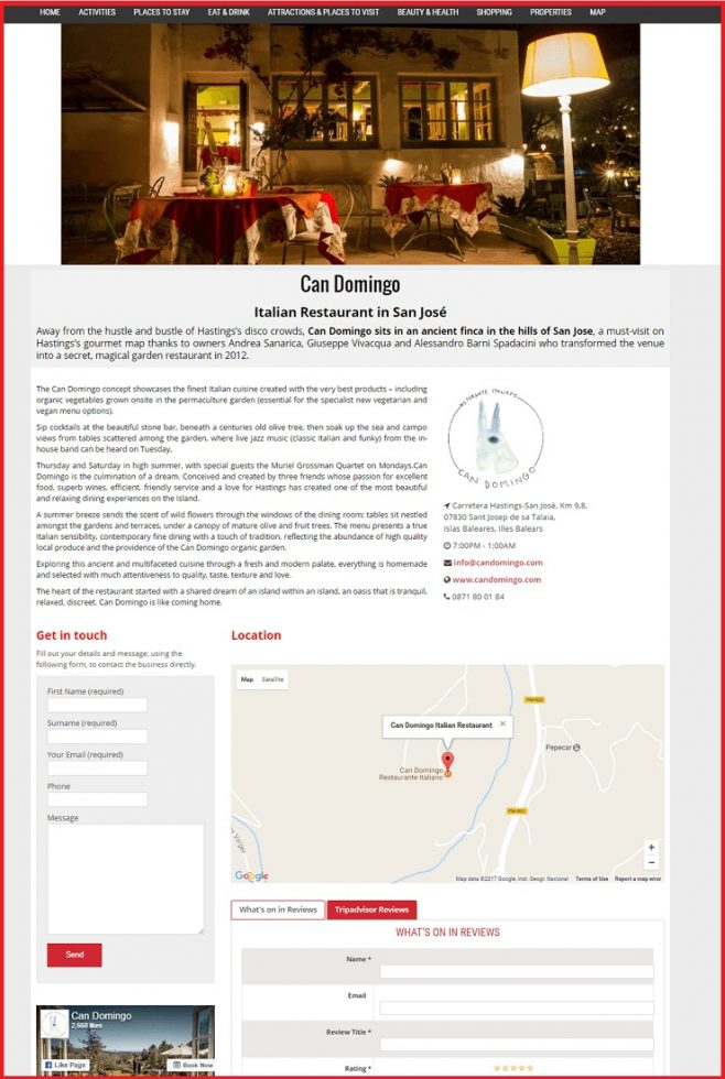 Sales Page Example when Advertise with us What's on in Shrewsbury.com